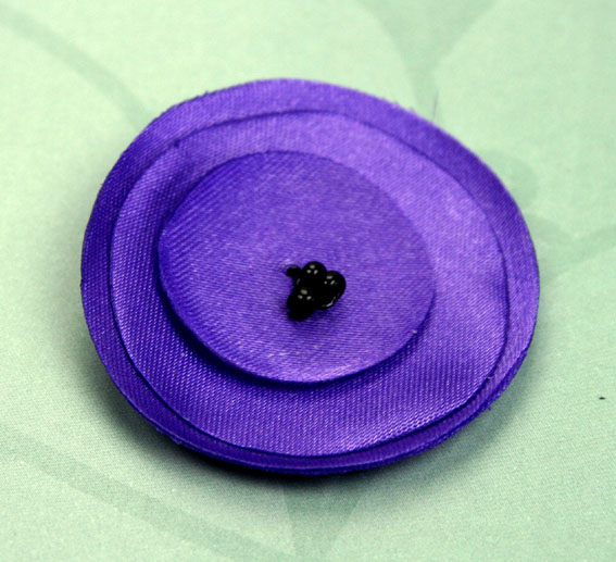 Lollipop 4.5cm Satin Flowers 12 pcs Purple
