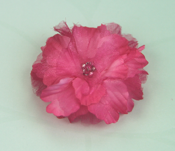 Primula 4.5cm Silk and Organza Flowers 12 pcs Hot Pink