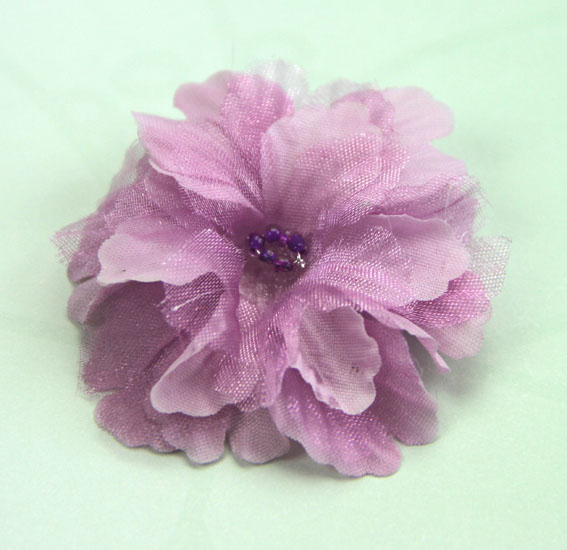 Primula 4.5cm Silk and Organza Flowers 12 pcs Lilac