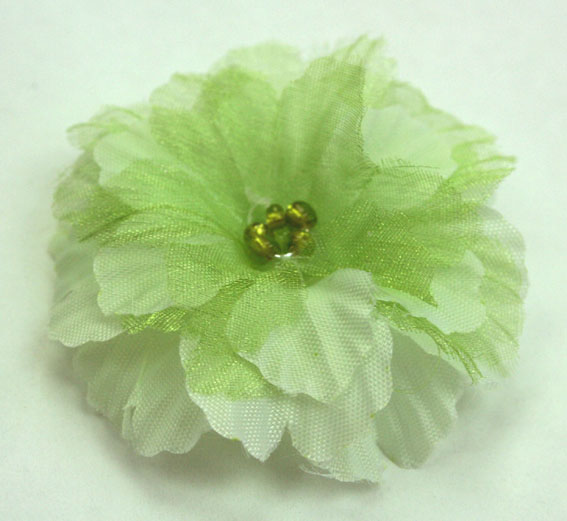 Primula 4.5cm Silk and Organza Flowers 12 pcs Pale Green