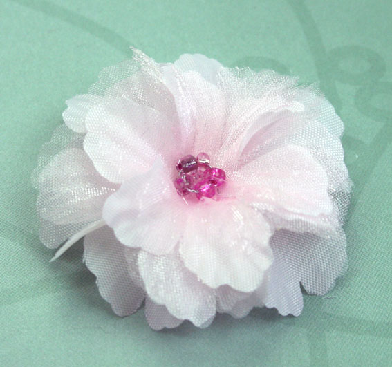 Primula 4.5cm Silk and Organza Flowers 12 pcs Pale Pink