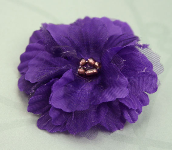 Primula 4.5cm Silk and Organza Flowers 12 pcs Purple