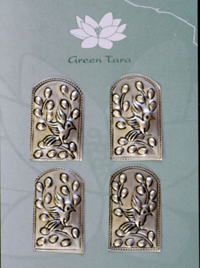 Metal Embellishments. 4 x 2.5cm. Bird Design