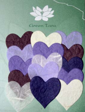 15 Mini Hearts, Purple