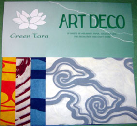 20 A5 Sheets Art Deco Papers 4 Elements.
