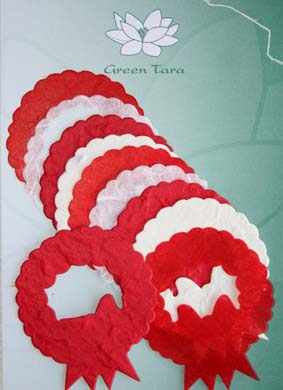 10 Die Cuts Xmas Wreaths, Red