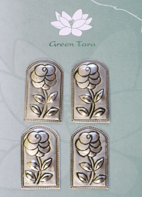 Metal Embellishments. 4 x 2.5cm. Flower Design