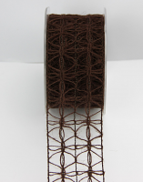50mm Jute Lattice 10m Dark Brown