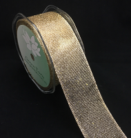 38mm Metallic Mesh Ribbon 10m Gold