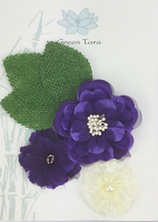 *NEW* Fabric Flowers 'Purple Rain' Pack