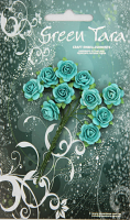 10 Roses 1.5cm Turquoise