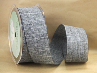 38mm Linen Look Ribbon, 20 Metres Slate