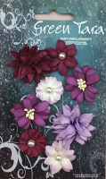 8 Rustic Flowers Purple