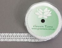 **NEW** 19mm Lace Ribbon 10m White