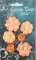 *NEW* Vintage Pack - Pack of 6 Co-ordinated Paper Flowers, Peach