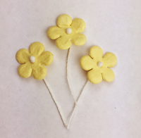 *NEW* 100 Flowers 1.5cm Lemon