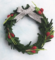 Xmas Wreath Green 5cm. Bulk Pack of 20