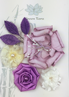 Fabric Flowers 'Berries and Cream' Pack