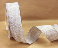 38mm Natural Linen Ribbon, 15 Metres