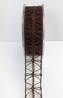 25mm Jute Lattice 10m Dark Brown