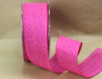 38mm Linen Look Ribbon, 20 Metres Mulberry