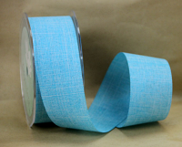38mm Linen Look Ribbon, 20 Metres Aqua