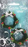 Xmas Wreath Green 5cm. Pack of 2