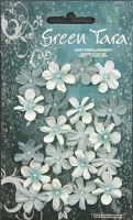 Pack 20 Mini Flowers, Blue 22mm