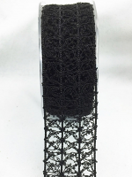 38mm Vintage Open Weave 10m Black