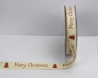 15mm Merry Christmas Tape 20m Tree