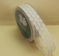 25mm Flower Lace 20m Ivory
