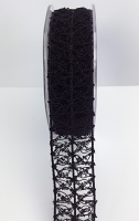 25mm Vintage Open Weave 10m Black