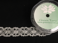 33mm Metallic Lace Ribbon, 10m Silver