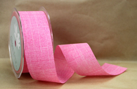 38mm Linen Look Ribbon, 20 Metres Rose