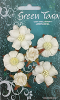 *NEW* Vintage Pack - Pack of 6 Co-ordinated Paper Flowers, Ivory