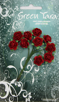 10 Roses 1.5cm Red