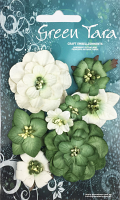 Fantasy Blooms - Pack of 8 Co-ordinated Flowers, GREEN