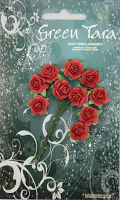 10 Roses 1.5cm Fire Engine Red