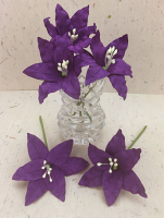 25 Wired Lilies 6.5cm, VIOLET