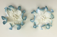 100 Blue/White Apple Blossoms