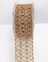 38mm Vintage Open Weave 10m Natural