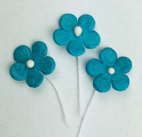 *NEW* 100 Flowers 1.5cm Teal