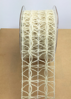 50mm Jute Lattice 10m Ivory