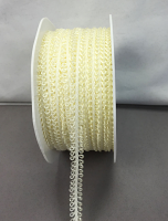 7mm Loop Trim 20m roll Ivory