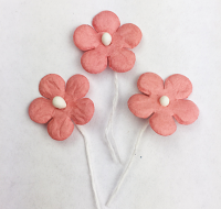 *NEW* 100 Flowers 1.5cm Coral