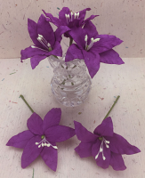 25 Wired Lilies 6.5cm, PURPLE