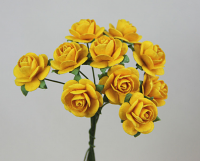 **NEW** 100 Roses 2cm Marigold Yellow