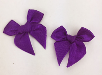 Pack of 50 3cm Bows. Purple