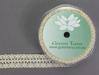 **NEW**19mm Lace Ribbon 10m Cream