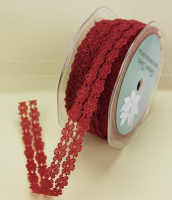 18mm Flower Lace 20m Red